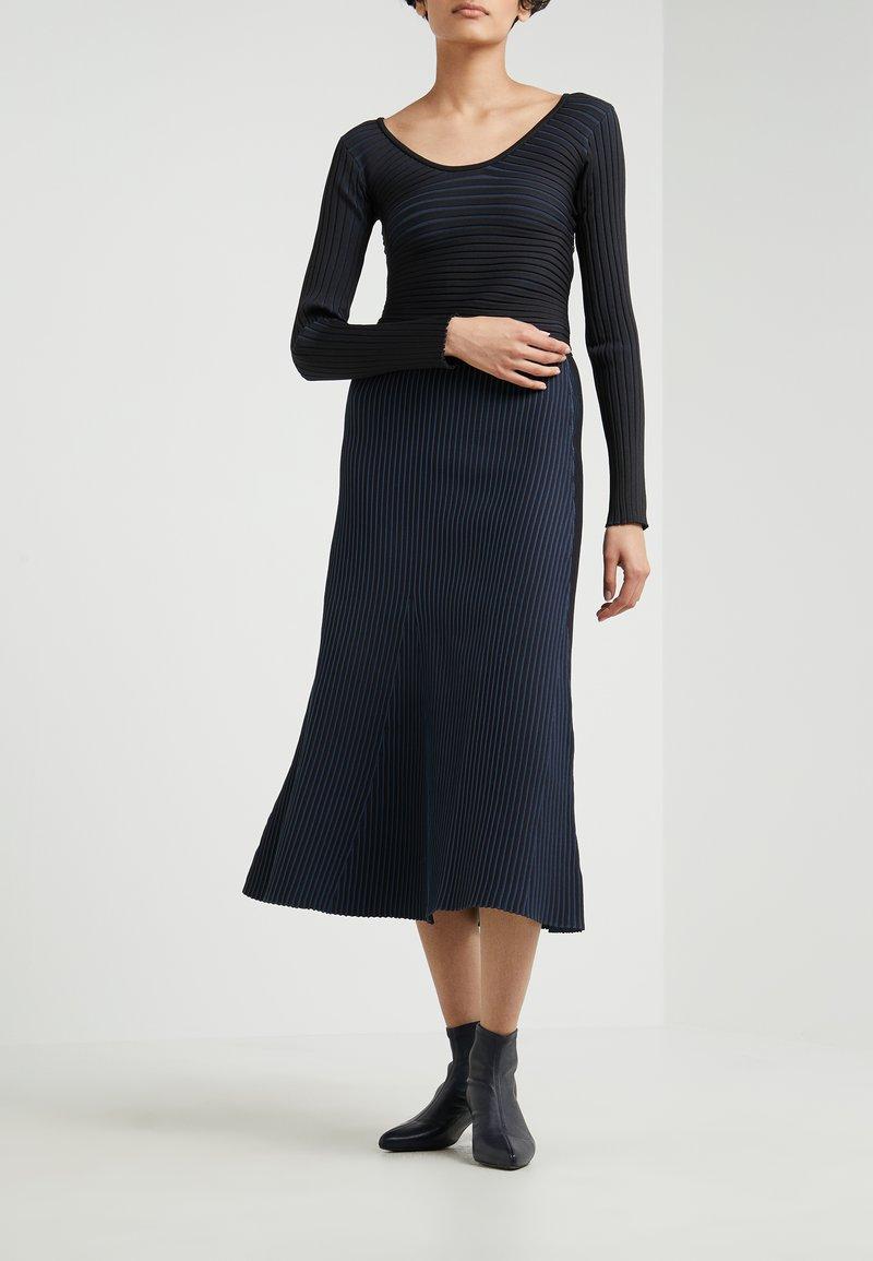 Tibi - TECH SKIRT - A-line skirt - black multi