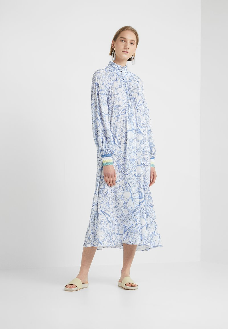 Tibi - ISA - Day dress - white/blue