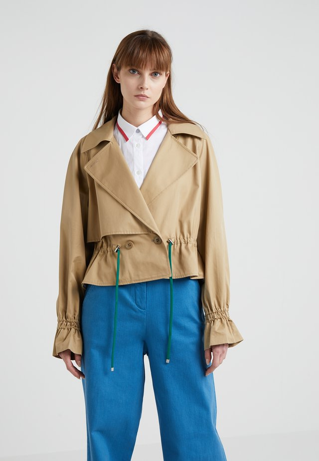 FINN CROPPED TRENCH - Summer jacket - khaki