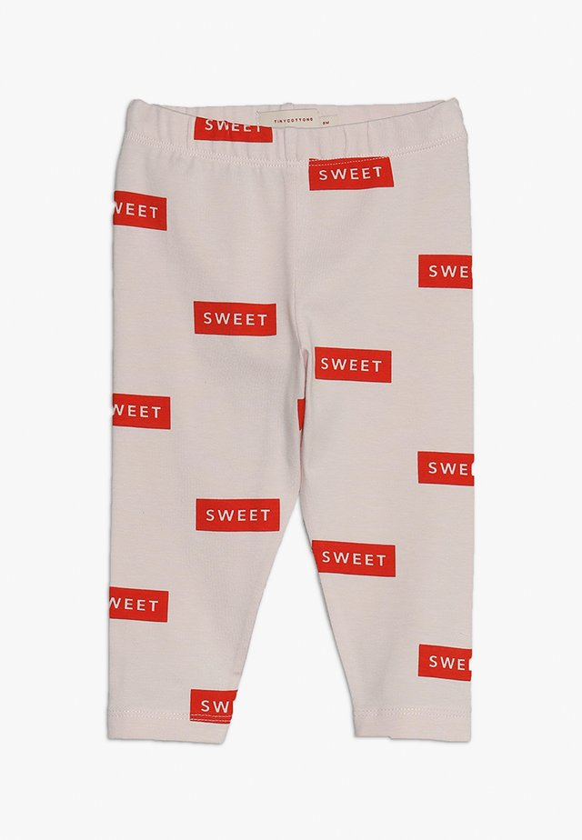 SWEET PANT BABY - Leggings - Hosen - pearl/red