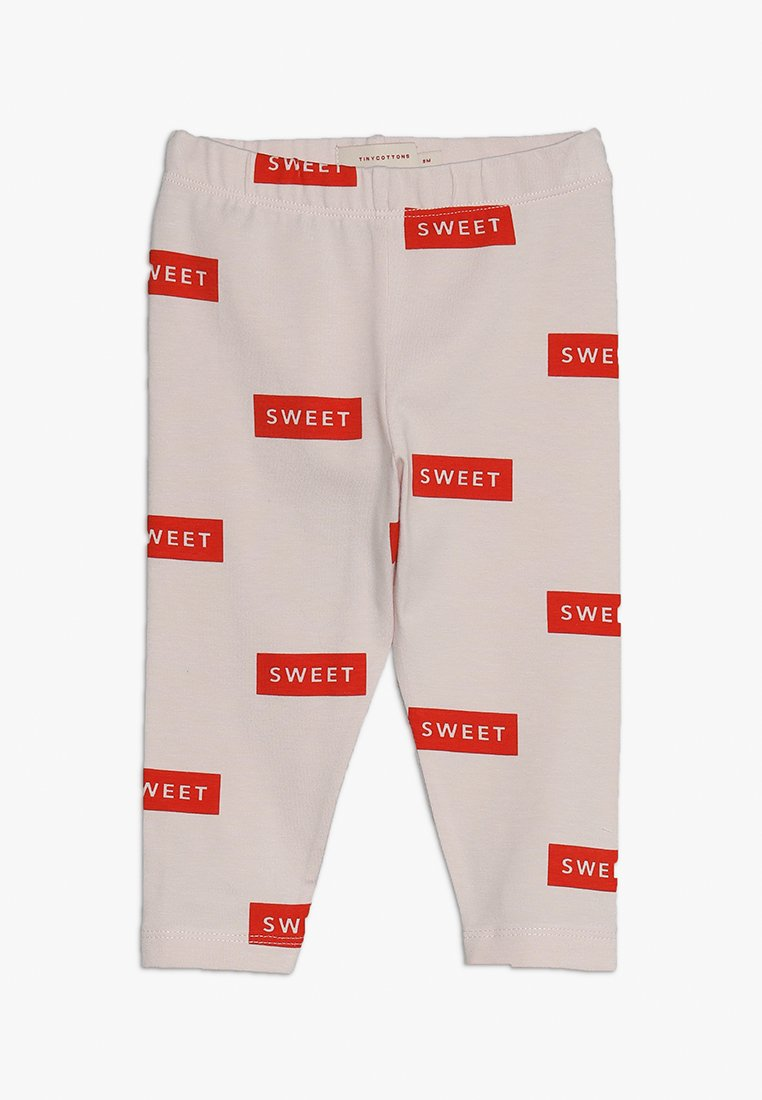 TINYCOTTONS - SWEET PANT BABY - Leggings - Hosen - pearl/red