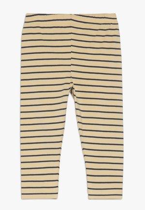 STRIPES PANT - Leggings - sand/true navy