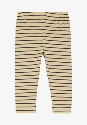STRIPES PANT - Legging - sand/true navy