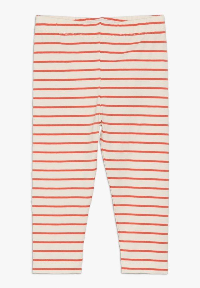 STRIPES PANT - Leggings - Trousers - light cream/red