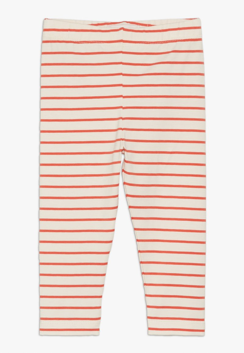 TINYCOTTONS - STRIPES PANT - Leggings - Trousers - light cream/red