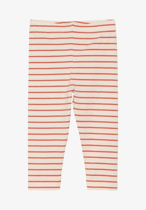 STRIPES PANT - Legíny - light cream/red