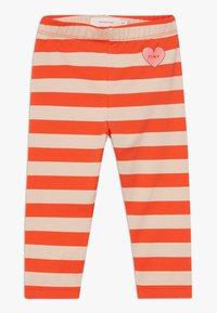 TINYCOTTONS - HEART STRIPES PANT - Legíny - light nude/red - 0