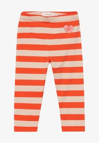 TINYCOTTONS - HEART STRIPES PANT - Legíny - light nude/red - 2