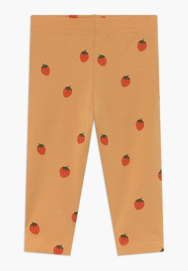 STRAWBERRIES PANT - Leggings - toffee/red