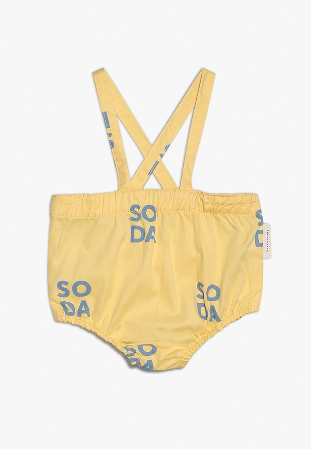 SODA BRACES BLOOMERBABY - Dungarees - canary/sea grey