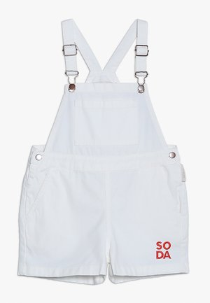 SODA SHORT OVERALL - Lacláče - off-white/red