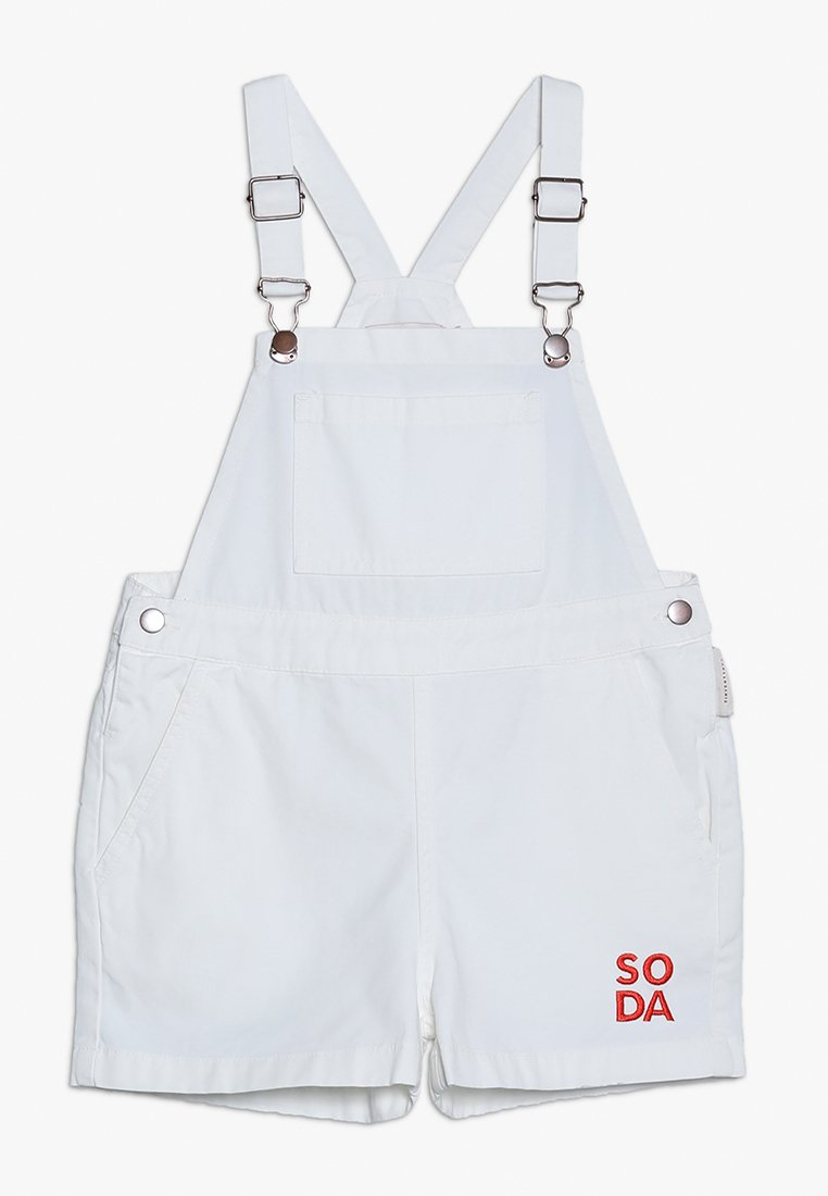 TINYCOTTONS - SODA SHORT OVERALL - Peto - off-white/red