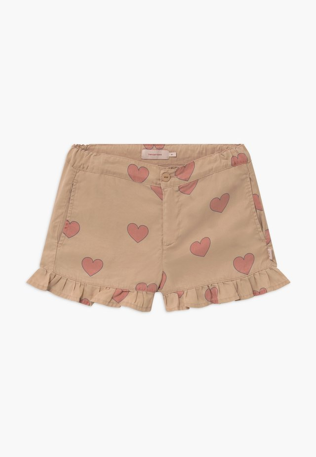 HEARTS - Shortsit - nude/red