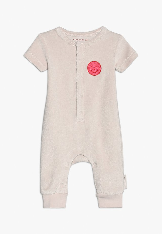 HAPPY FACE ONEPIECE BABY - Jumpsuit - pearl/rose
