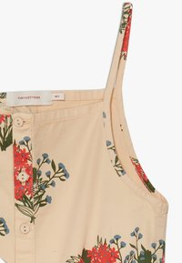 TINYCOTTONS - FLOWERS  - Overal - cappuchino/red - 2