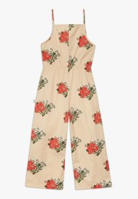 TINYCOTTONS - FLOWERS  - Overal - cappuchino/red - 1