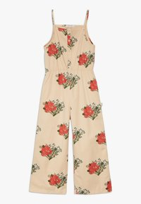 TINYCOTTONS - FLOWERS  - Overal - cappuchino/red - 0