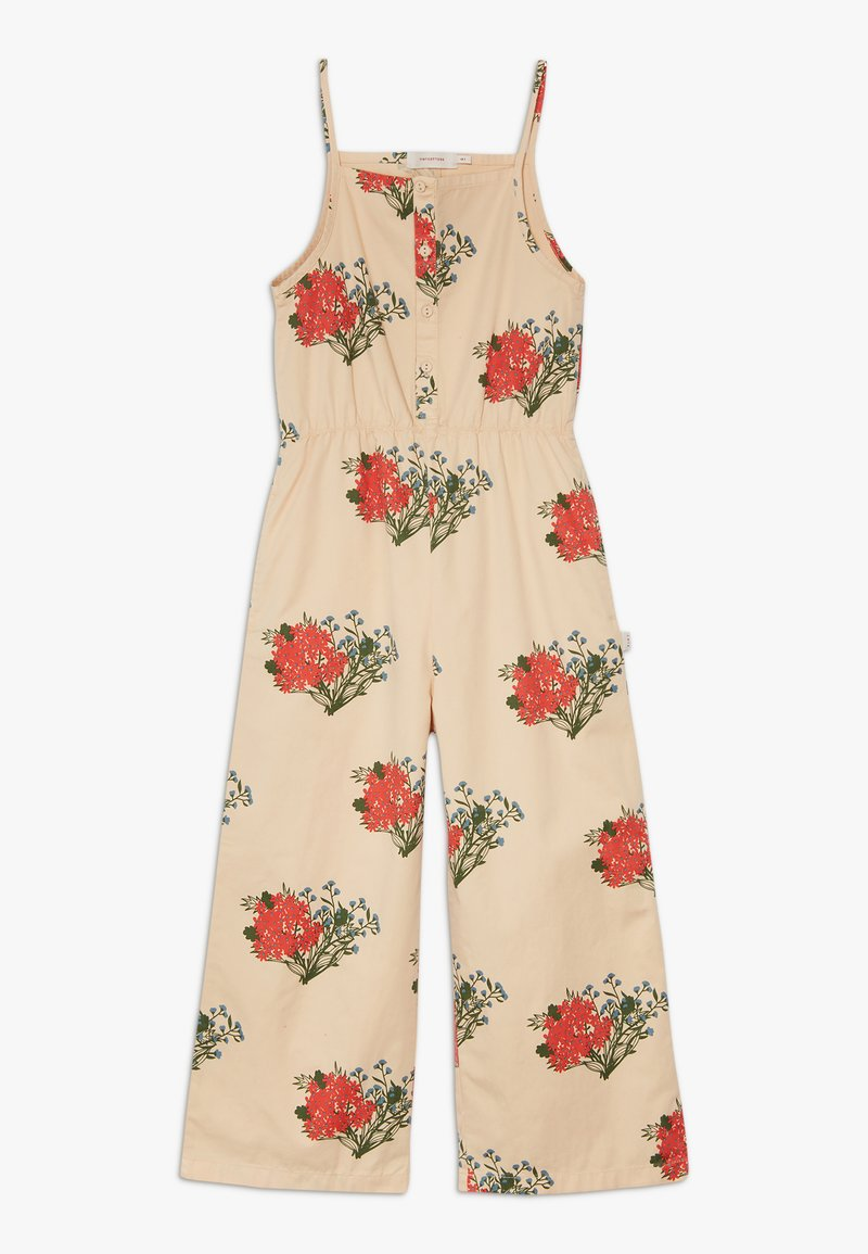 TINYCOTTONS - FLOWERS  - Overal - cappuchino/red