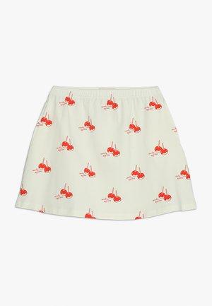 CANDY APPLES SHORT SKIRT - Mini skirt - off-white/red