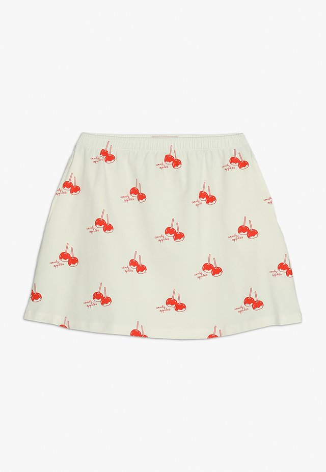CANDY APPLES SHORT SKIRT - Minijupe - off-white/red