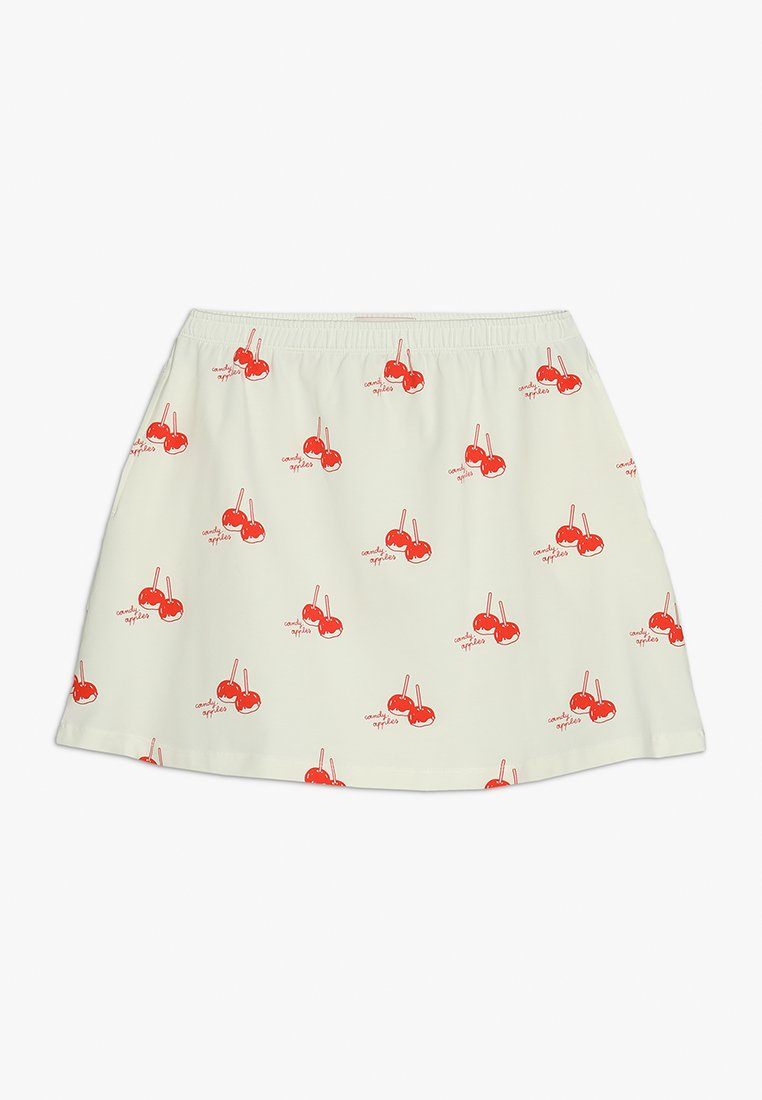 TINYCOTTONS - CANDY APPLES SHORT SKIRT - Mini skirt - off-white/red
