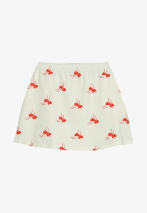 CANDY APPLES SHORT SKIRT - Mini skirt - off-white/red