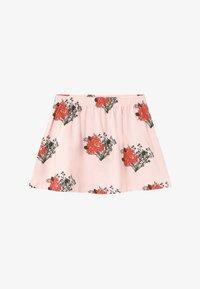 TINYCOTTONS - FLOWERS - Áčková sukně - light pink/red - 2