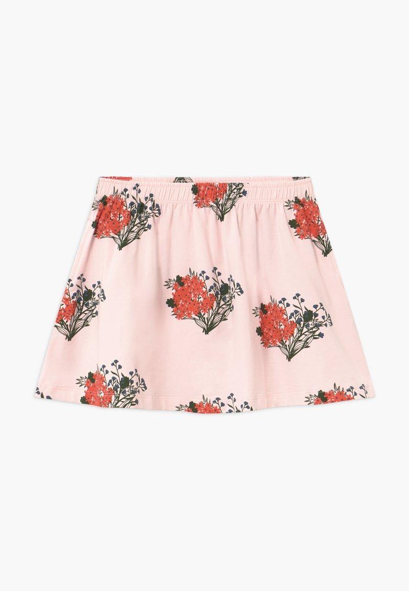 TINYCOTTONS - FLOWERS - Áčková sukně - light pink/red