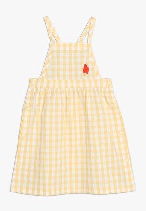 CHECK DRESS - Denní šaty - off white/canary