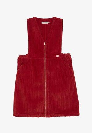 V NECK DRESS - Day dress - burgundy
