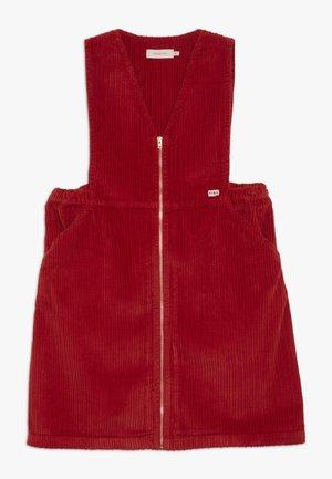 V NECK DRESS - Vestido informal - burgundy