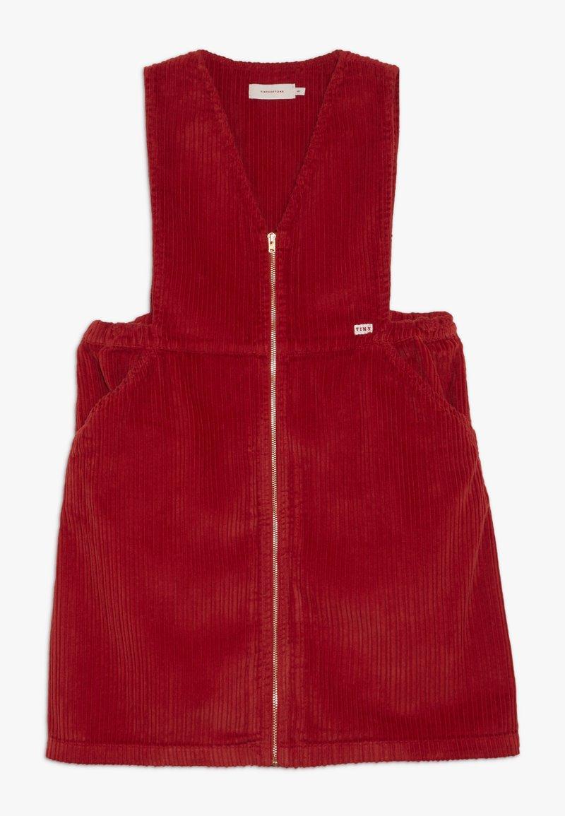 TINYCOTTONS - V NECK DRESS - Vestido informal - burgundy