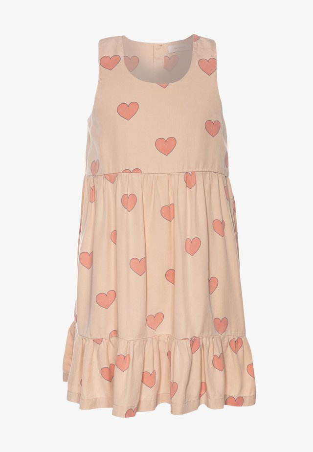 HEARTS DRESS - Freizeitkleid - nude/red