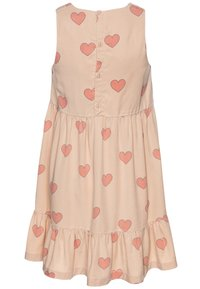 TINYCOTTONS - HEARTS DRESS - Vestido informal - nude/red - 1