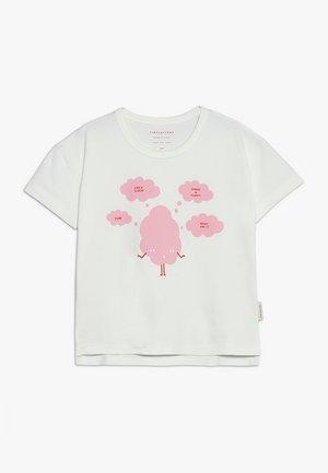 SWEET FLUFFY TEE - Triko spotiskem - off white/pink