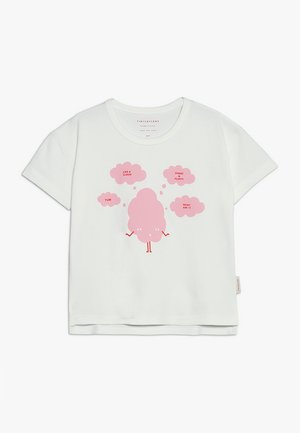 SWEET FLUFFY TEE - Camiseta estampada - off white/pink