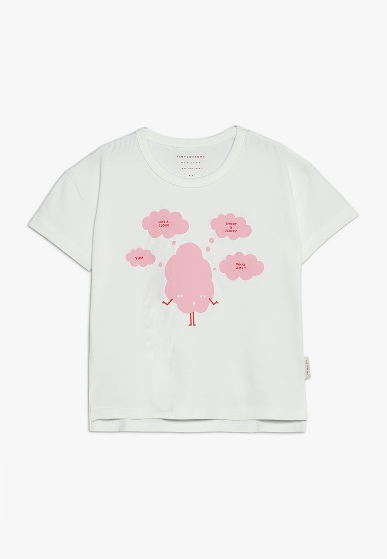 TINYCOTTONS - SWEET FLUFFY TEE - T-shirt print - off white/pink