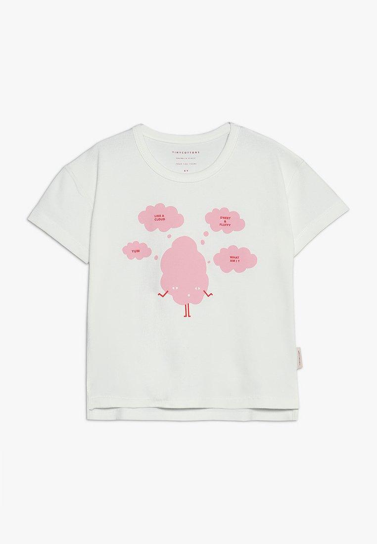 TINYCOTTONS - SWEET FLUFFY TEE - Camiseta estampada - off white/pink