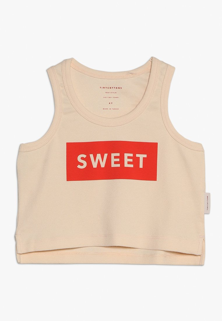TINYCOTTONS - SWEET CROP TANK - Top - cream/red