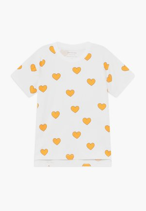 HEARTS  - Triko s potiskem - off white-yellow
