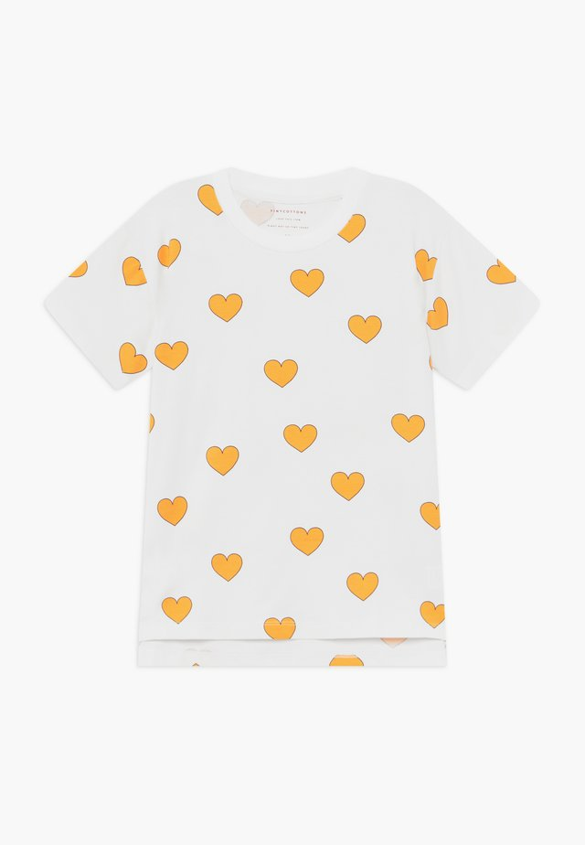 HEARTS  - T-Shirt print - off white-yellow