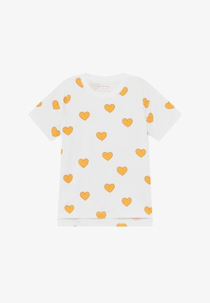 HEARTS  - Print T-shirt - off white-yellow