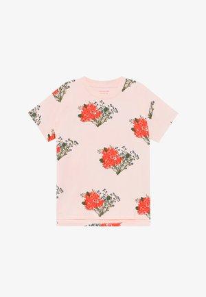FLOWERS  - Triko spotiskem - light pink/red