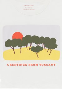 TINYCOTTONS - TUSCANY CROP  - Print T-shirt - off white-yellow - 3
