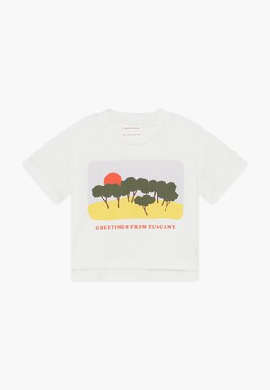 TUSCANY CROP  - Print T-shirt - off white-yellow