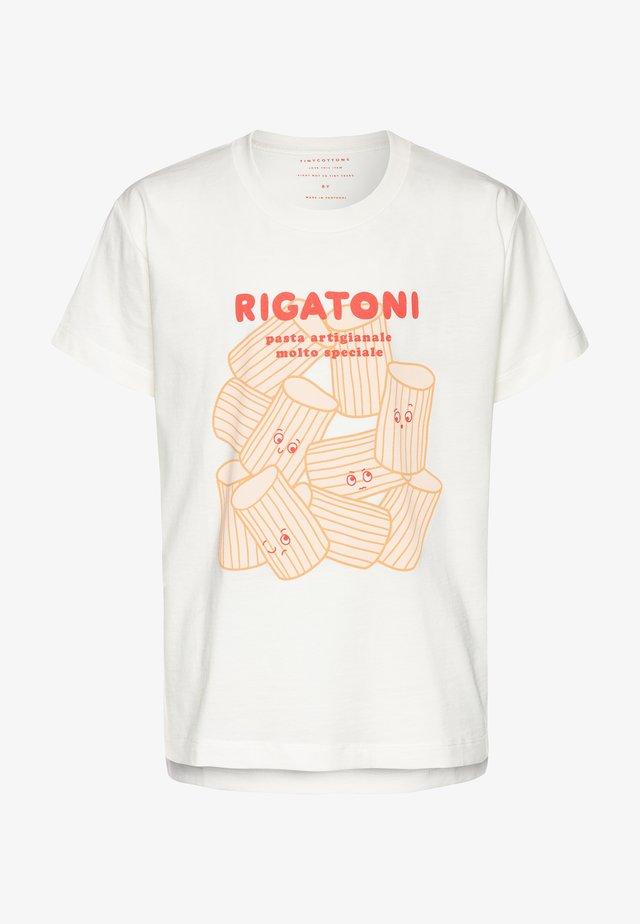 RIGATONI - Printtipaita - offwhite/red