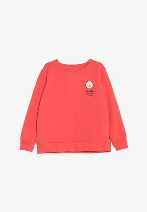 SMILE - Sweatshirt - light red/cream