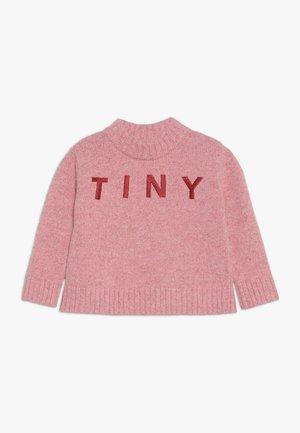 TINY MOCK  - Neule - pale pink/burgundy