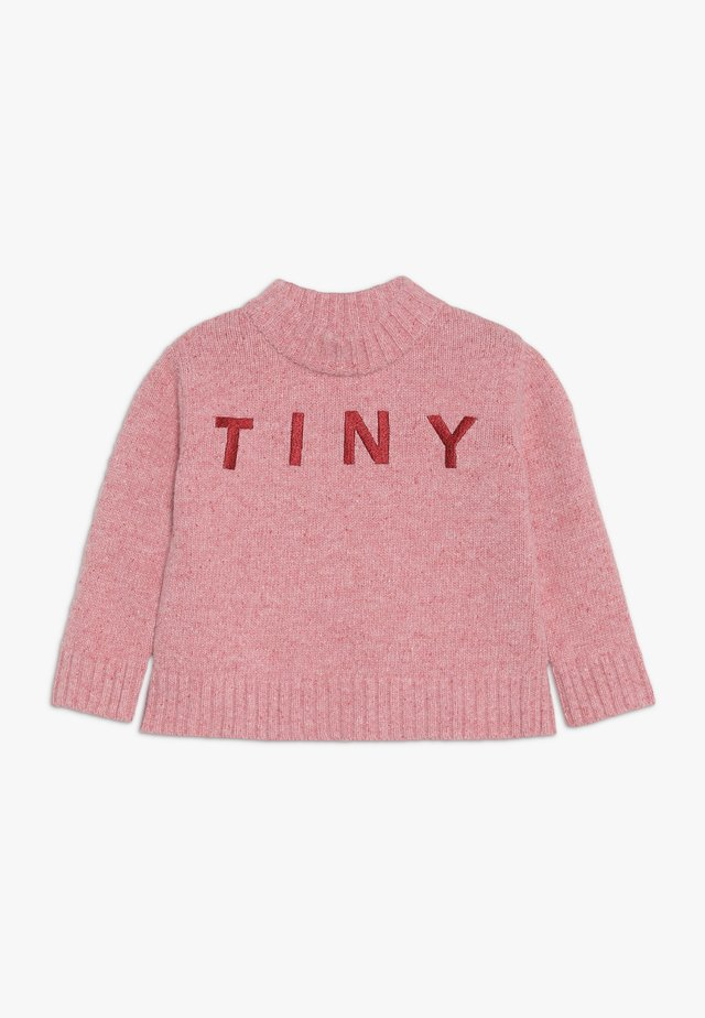 TINY MOCK  - Strickpullover - pale pink/burgundy