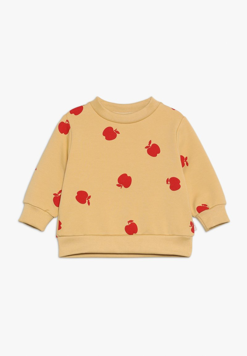 TINYCOTTONS - APPLES SWEATSHIRT - Sweatshirt - sand/burgundy